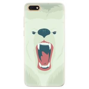 Silikonové pouzdro iSaprio (mléčně zakalené) Naštvanej Medvěd na mobil Honor 7S