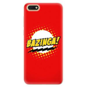 Silikonové pouzdro iSaprio (mléčně zakalené) Bazinga 01 na mobil Honor 7S
