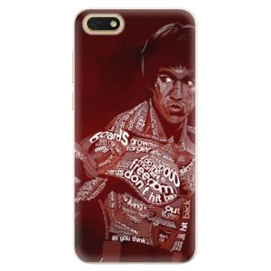 Silikonové pouzdro iSaprio (mléčně zakalené) Bruce Lee na mobil Honor 7S