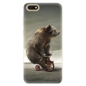 Silikonové pouzdro iSaprio (mléčně zakalené) Medvěd 01 na mobil Honor 7S