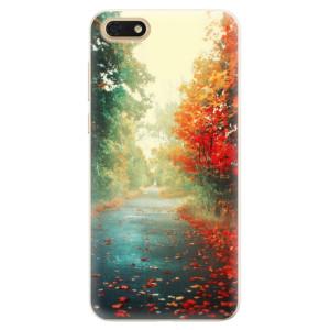Silikonové pouzdro iSaprio (mléčně zakalené) Podzim 03 na mobil Honor 7S