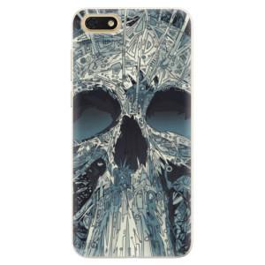 Silikonové pouzdro iSaprio (mléčně zakalené) Abstract Skull na mobil Honor 7S
