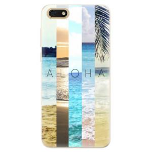 Silikonové pouzdro iSaprio (mléčně zakalené) Aloha 02 na mobil Honor 7S