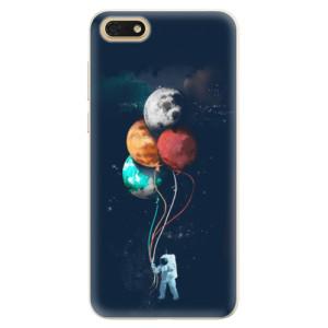 Silikonové pouzdro iSaprio (mléčně zakalené) Balónky 02 na mobil Honor 7S