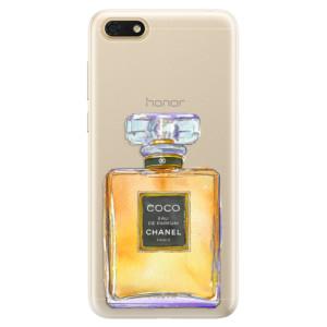 Silikonové pouzdro iSaprio (mléčně zakalené) Chanel Gold na mobil Honor 7S