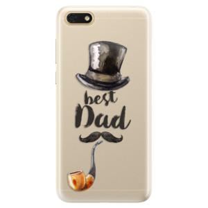 Silikonové pouzdro iSaprio (mléčně zakalené) Best Dad na mobil Honor 7S