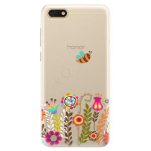 Silikonové pouzdro iSaprio (mléčně zakalené) Včelka Pája 01 na mobil Honor 7S