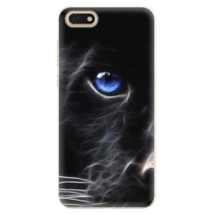 Silikonové pouzdro iSaprio (mléčně zakalené) Black Puma na mobil Honor 7S