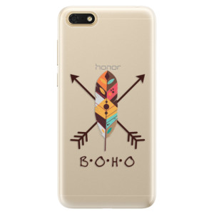 Silikonové pouzdro iSaprio (mléčně zakalené) BOHO na mobil Honor 7S