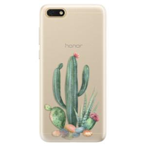 Silikonové pouzdro iSaprio (mléčně zakalené) Kaktusy 02 na mobil Honor 7S