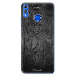 Silikonové pouzdro iSaprio (mléčně zakalené) Black Wood 13 na mobil Honor 8X