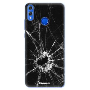 Silikonové pouzdro iSaprio (mléčně zakalené) Broken Glass 10 na mobil Honor 8X