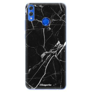 Silikonové pouzdro iSaprio (mléčně zakalené) Black Marble 18 na mobil Honor 8X