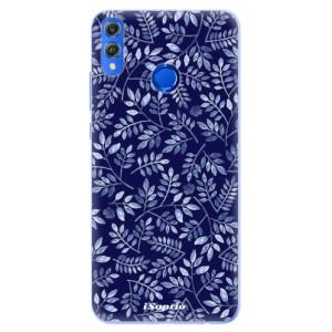 Silikonové pouzdro iSaprio (mléčně zakalené) Blue Leaves 05 na mobil Honor 8X