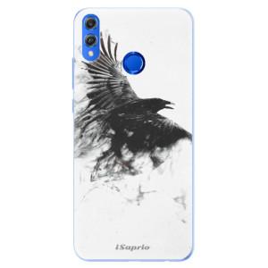 Silikonové pouzdro iSaprio (mléčně zakalené) Havran 01 na mobil Honor 8X
