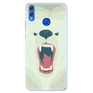 Silikonové pouzdro iSaprio (mléčně zakalené) Naštvanej Medvěd na mobil Honor 8X