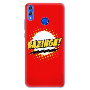 Silikonové pouzdro iSaprio (mléčně zakalené) Bazinga 01 na mobil Honor 8X