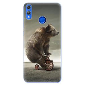 Silikonové pouzdro iSaprio (mléčně zakalené) Medvěd 01 na mobil Honor 8X