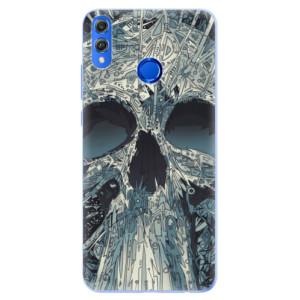 Silikonové pouzdro iSaprio (mléčně zakalené) Abstract Skull na mobil Honor 8X