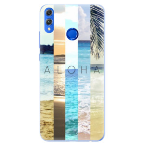 Silikonové pouzdro iSaprio (mléčně zakalené) Aloha 02 na mobil Honor 8X