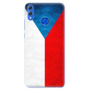 Silikonové pouzdro iSaprio (mléčně zakalené) Česká Vlajka na mobil Honor 8X
