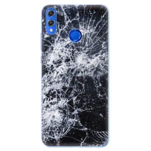 Silikonové pouzdro iSaprio (mléčně zakalené) Praskliny na mobil Honor 8X