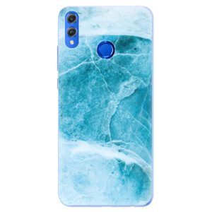 Silikonové pouzdro iSaprio (mléčně zakalené) Blue Marble na mobil Honor 8X
