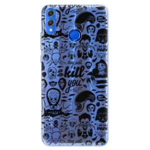 Silikonové pouzdro iSaprio (mléčně zakalené) Komiks 01 black na mobil Honor 8X