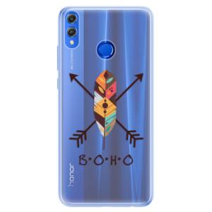 Silikonové pouzdro iSaprio (mléčně zakalené) BOHO na mobil Honor 8X