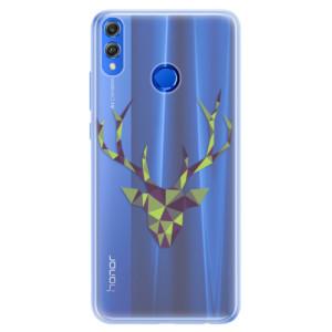 Silikonové pouzdro iSaprio (mléčně zakalené) Zelený Jelínek na mobil Honor 8X
