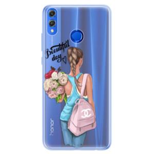 Silikonové pouzdro iSaprio (mléčně zakalené) Beautiful Day na mobil Honor 8X