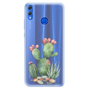 Silikonové pouzdro iSaprio (mléčně zakalené) Kaktusy 01 na mobil Honor 8X