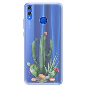 Silikonové pouzdro iSaprio (mléčně zakalené) Kaktusy 02 na mobil Honor 8X