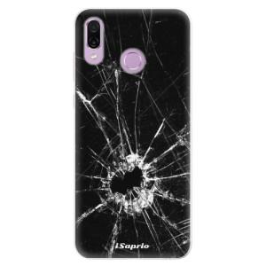 Silikonové pouzdro iSaprio (mléčně zakalené) Broken Glass 10 na mobil Honor Play
