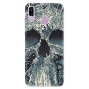 Silikonové pouzdro iSaprio (mléčně zakalené) Abstract Skull na mobil Honor Play