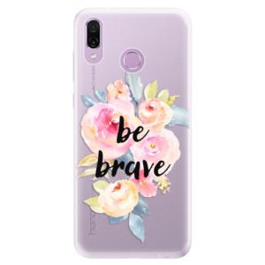 Silikonové pouzdro iSaprio (mléčně zakalené) Be Brave na mobil Honor Play