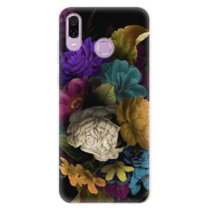 Silikonové pouzdro iSaprio (mléčně zakalené) Temné Květy na mobil Honor Play