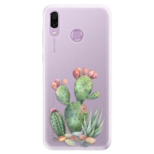 Silikonové pouzdro iSaprio (mléčně zakalené) Kaktusy 01 na mobil Honor Play