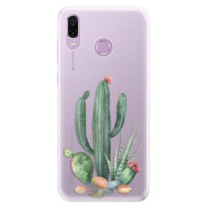 Silikonové pouzdro iSaprio (mléčně zakalené) Kaktusy 02 na mobil Honor Play