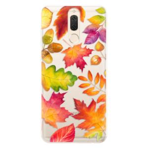 Silikonové pouzdro iSaprio (mléčně zakalené) Podzimní Lístečky na mobil Huawei Mate 10 Lite