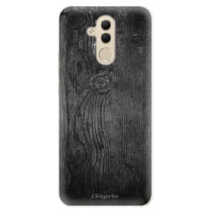 Silikonové pouzdro iSaprio (mléčně zakalené) Black Wood 13 na mobil Huawei Mate 20 Lite