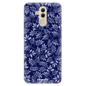 Silikonové pouzdro iSaprio (mléčně zakalené) Blue Leaves 05 na mobil Huawei Mate 20 Lite
