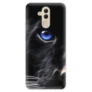 Silikonové pouzdro iSaprio (mléčně zakalené) Black Puma na mobil Huawei Mate 20 Lite