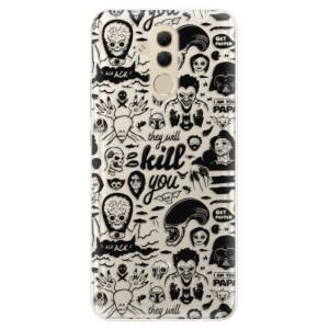 Silikonové pouzdro iSaprio (mléčně zakalené) Komiks 01 black na mobil Huawei Mate 20 Lite
