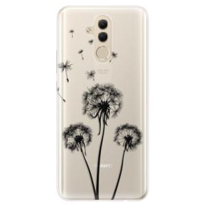 Silikonové pouzdro iSaprio (mléčně zakalené) Tři Černé Pampelišky na mobil Huawei Mate 20 Lite