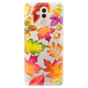 Silikonové pouzdro iSaprio (mléčně zakalené) Podzimní Lístečky na mobil Huawei Mate 20 Lite