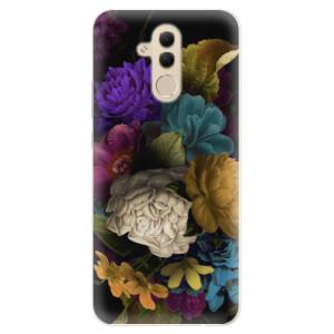 Silikonové pouzdro iSaprio (mléčně zakalené) Temné Květy na mobil Huawei Mate 20 Lite