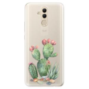 Silikonové pouzdro iSaprio (mléčně zakalené) Kaktusy 01 na mobil Huawei Mate 20 Lite