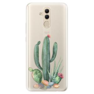 Silikonové pouzdro iSaprio (mléčně zakalené) Kaktusy 02 na mobil Huawei Mate 20 Lite