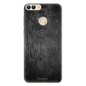 Silikonové pouzdro iSaprio (mléčně zakalené) Black Wood 13 na mobil Huawei P Smart